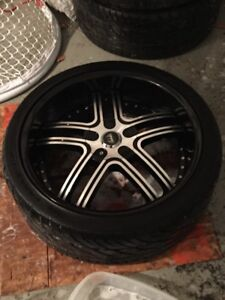22inch rims an tires charger/chally/300