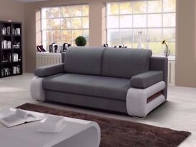 💥SAME DAY FAST DELIVERY🔥🔥 NEW ITALIAN CORNER SOFA FABRIC SOFA BED WITH STORAGE SLEEPER or 3seater