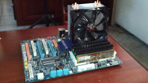 I7 CPU, GIGABYTE motherboard, 24 GIG RAM, HighPerformance Fan