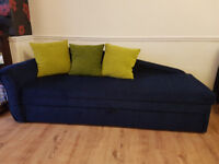 sofa bed! great condition , no stains or marks or cuts with three pilows.