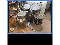 Remo Weatherking Ambassador drum kit plus Zildjian Cymbals