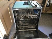Indesit under counter/integrated dishwasher