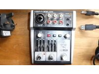 Xenyx 302USB 5 input mixer with mic preamp and usb audio interface Mint.