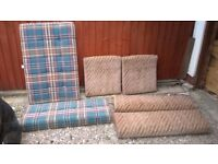 Seat and bed cushions for Talbot Express campervan