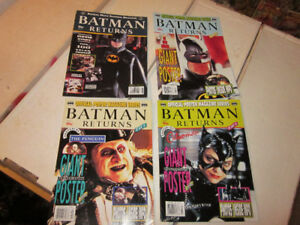 Batman returns comic movie and poster magazines