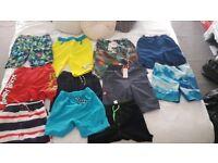 Bundle of boys swim shorts age 9-10 new
