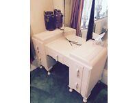 Vintage Art Deco Dressing table VGC Painted in Annie Sloan Antoinette