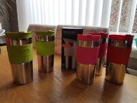 Job lot of bodum travel mugs