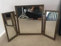 Vintage dressing table triple mirror