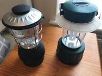 Two lantern use batteries