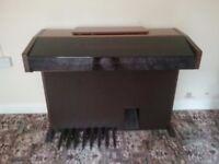 Electric 2 manual organ, brown wooden case. Windsor Farfisa.