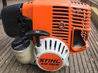 STIHL KM130R POWER UNIT WITH ADJUSTABLE HEDGE TRIMMER, STRIMMER / BUSH CUTTER attachment