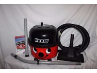 Boxed Numatic Red Henry Hoover 110V with tools, for building sites. As new.