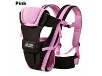 Newborn Infant Baby Girls Carrier Breathable Ergonomic Adjustable Wrap Sling Pink