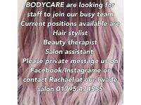 Hairdresser & beauty therapist required for busy sittingbourne salon