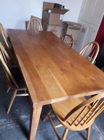 6 ' solid oak dining table