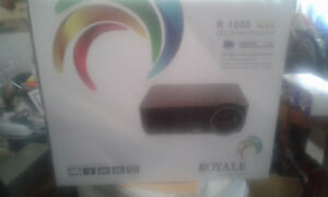 r;1000 4ksmartprojecter tv with screen brand new royale