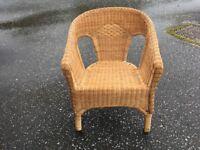 Basket weave tub chair
