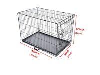 Wire dog crate 48 inch for large dogs German shepherd Siberian husky mastiff