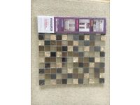 Brand New - 1 pack 300mm x 300mm mosaic tiles colours brown/bronze perfect for borders.