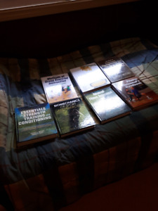 Used fitness and health  text books