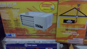 """50000 BTU Natural Gas Heater and 4"""" Vertical Vent Kit (new)"""