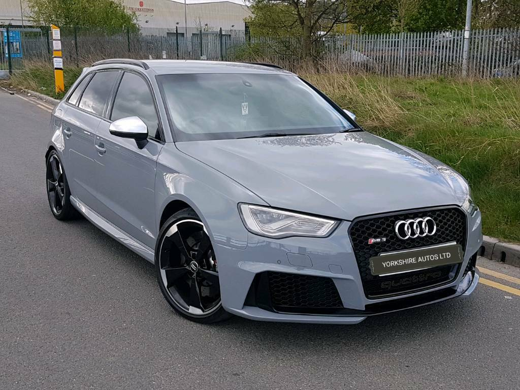 2015 65 audi rs3 5 door nardo grey fully loaded dynamic pack black optic s s buckets low mileage. Black Bedroom Furniture Sets. Home Design Ideas