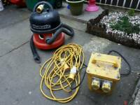 Power tool transformer, industrial Hoover and electric cables