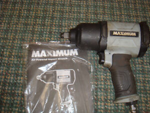 """1/2""""  Maximum air impact wrench and sockets"""