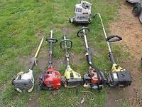 Broken Petrol garden tools