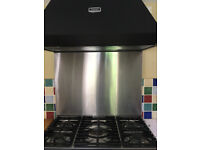 Falcon Range 211 GEO with hood & splashback Dual Fuel 1200mm width