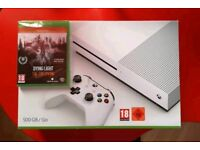 XBOX ONE S 500GB MINT PLUS DYING LIGHT THE FOLLOWING