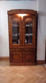 Oak Display Cabinet Unit