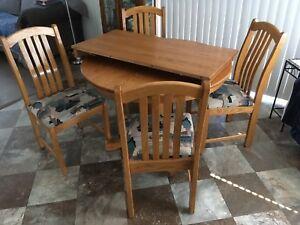 Solid Honey Oak Dining Set