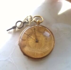 18k GOLD ANTIQUE POCKET WATCH