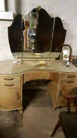 Large vintage dressing table
