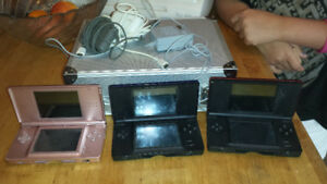 3 Nintendo Ds and 35 games.