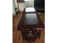 Master Chicago massage table plus carry case