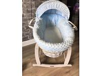Grey Moses basket and stand
