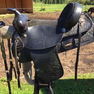 "Western Rawhide 15"" Saddle"