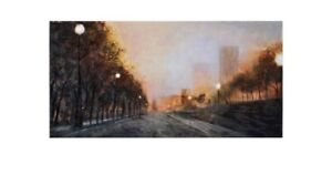 Misty Streets Hand-Painted Oil Painting by Seongwop Joshua IM