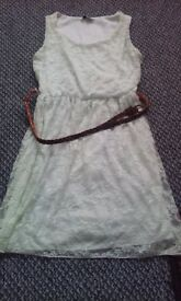 New look cream/white lacey dress size 14 in good condition