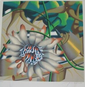 """Limited Ed Serigraph Print """"Morning Flowers"""" by Jack Brusca!"""
