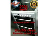 Indesit 60cm slot in Electric Cooker Double Oven White