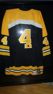 60875b1d5 Bobby Orr  4 Boston Bruins Signed   Framed Game Weight Jersey