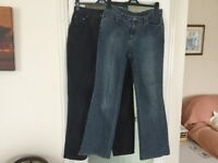 2 pairs of jeans size 14 M&S