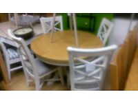 Mark Webster Padstow Round Extending Dining Table & 4 Padstow chairs