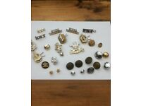 Military badges/buttons