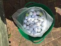 250 all-sorted golf balls.