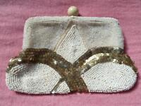 BEAUTIFUL VINTAGE Art Deco beaded purse - £21 only